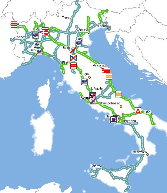 Verkehrslage in Italien